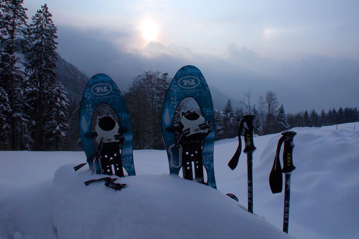 Schneeschuhlaufen am Samerberg