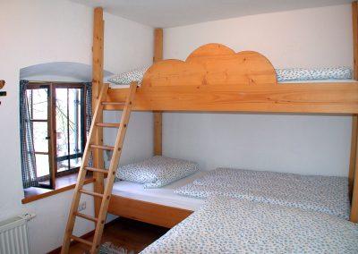 Schlafzimmer in der Terrassenwohnung