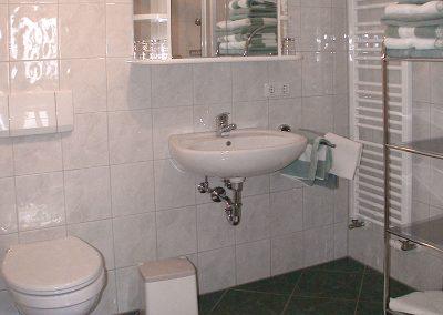 Dusche mit WC in der Terrassenwohnung