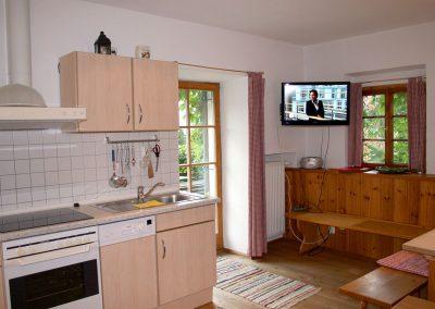 Wohnküche in der Terrassenwohnung