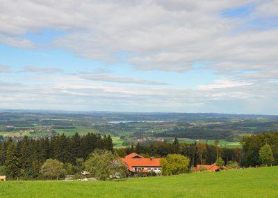 Aussicht auf den Weiler Laberg (Gemeinde Samerberg)